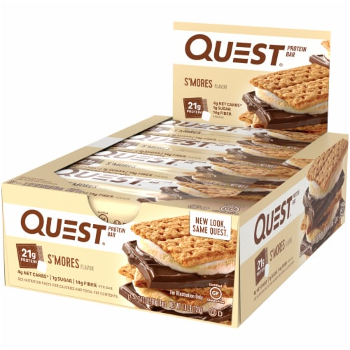 Quest S'mores Protein Bars 12 Count Perspective: right
