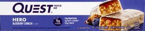 Quest HERO Blueberry Cobbler Protein Bars 10 Count Perspective: right