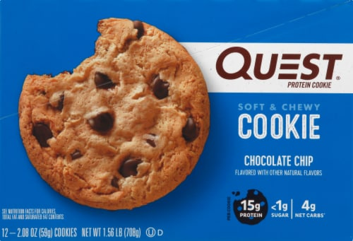 Quest Chocolate Chip Protein Cookies Perspective: right