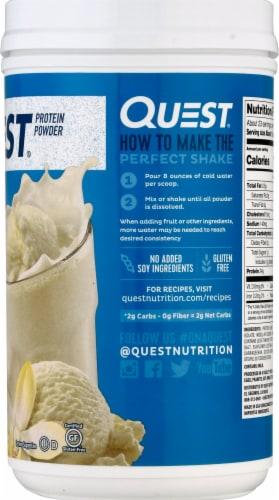 Quest Vanilla Milkshake Protein Powder Perspective: right