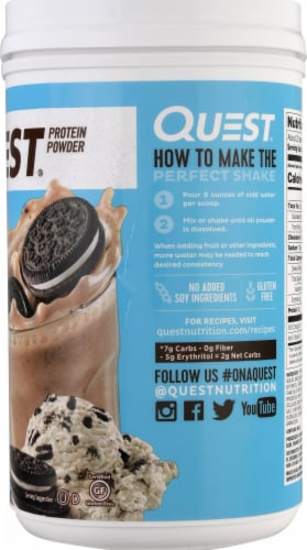 Quest Cookies & Cream Protein Powder Perspective: right