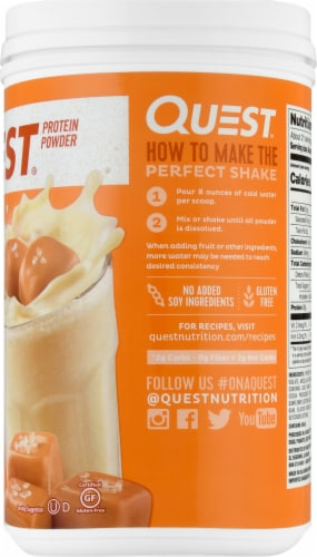 Quest Salted Caramel Protein Powder Perspective: right