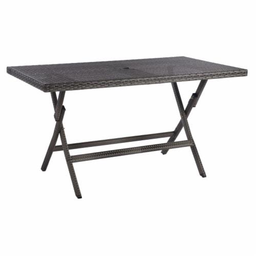 Akita Folding Table Grey Perspective: right