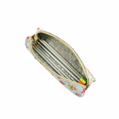 Wrapables Trendy Food Pencil Case and Stationery Pouches (Set of 3), Pink Perspective: right