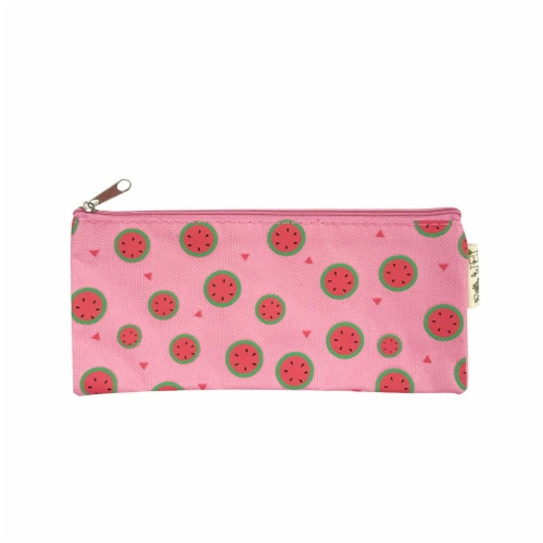 Wrapables Trendy Food Pencil Case and Stationery Pouches (Set of 3), Watermelon Perspective: right