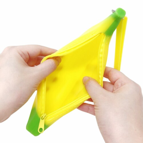 Wrapables Silicone Banana Pencil Pouch (Set of 2) Perspective: right