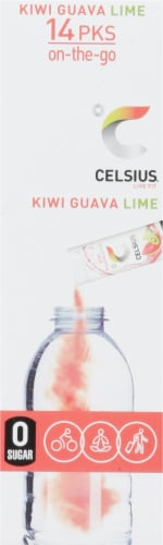 Celsius® Kiwi Guava Lime Flavor Stick Packets Perspective: right