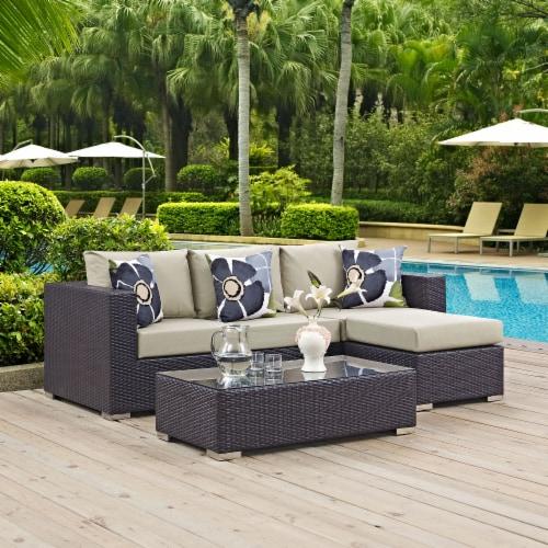 Convene 3 Piece Outdoor Patio Sofa Set Perspective: right