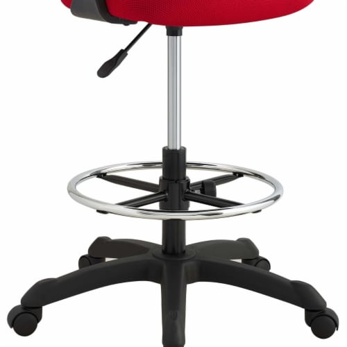 Thrive Mesh Drafting Chair - Red Perspective: right