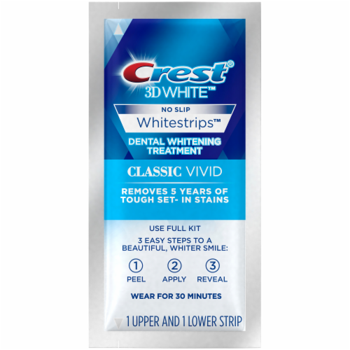 Crest 3D Whitestrips Classic Vivid Teeth Whitening Kit 10 Treatments Perspective: right