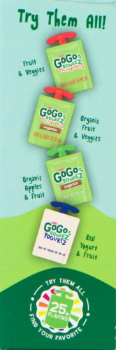 GoGo SqueeZ Apple Apple Applesauce Pouches Perspective: right