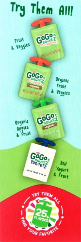 GoGo Squeez Apple Strawberry Applesauce Pouches Perspective: right
