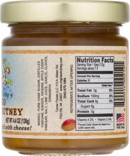 Virgnia Chutney Company Mango Chutney Perspective: right