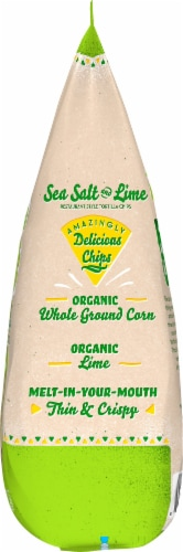Late July Organic Sea Salt & Lime Restaurant Style Tortilla Chips Perspective: right