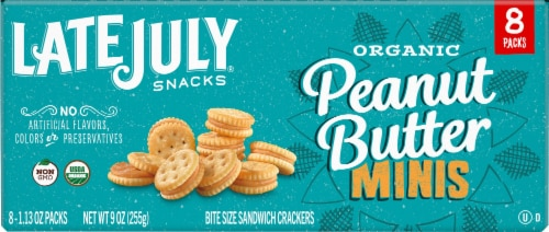 Late July Organic Mini Peanut Butter Sandwich Crackers Perspective: right