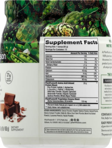 PlantFusion Chocolate Plant Protein Powder Perspective: right