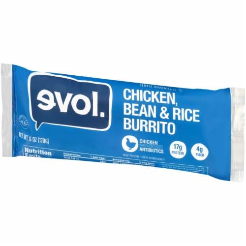 Evol Chicken Bean & Rice Burrito Perspective: right