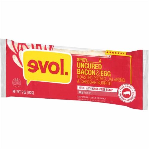 Evol Spicy Uncured Bacon & Egg Burrito Perspective: right