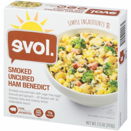 evol. Smoked Uncured Ham Benedict Bowl Perspective: right