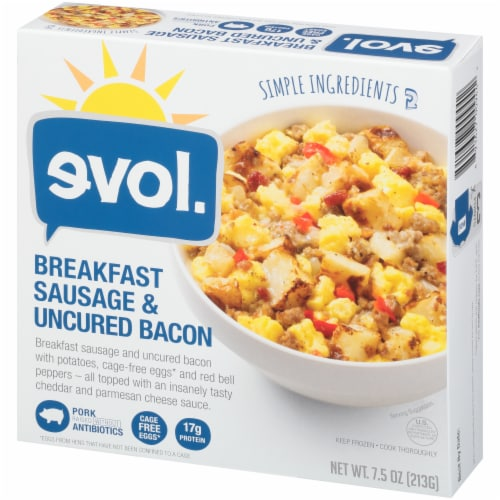 evol. Breakfast Sausage and Uncured Bacon Perspective: right