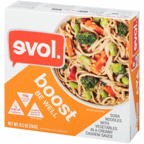 Evol Boost Be Well Soba Noodles and Vegetables Bowl Perspective: right