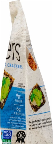 Doctor In The Kitchen  Flackers® Organic Flax Seed Sea Salt Crackers Perspective: right