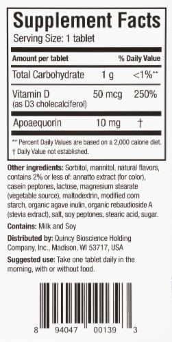 Prevagen® Orange Chewable Tablets Perspective: right