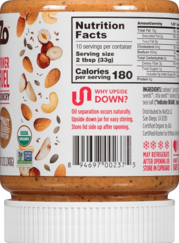 NuttZo Organic Paleo Power Fuel Crunchy 7 Nut & Seed Butter Perspective: right