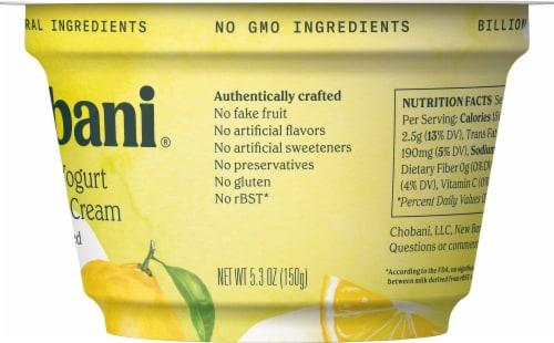 Chobani Lemon & Cream Blended Greek Yogurt Perspective: right