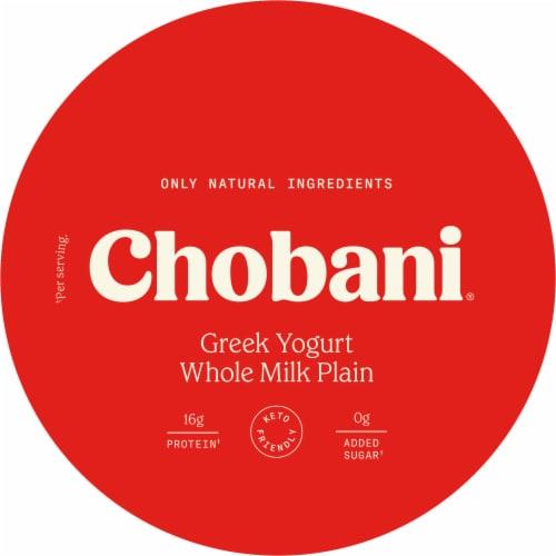 Chobani® Whole Milk Plain Greek Yogurt Perspective: right