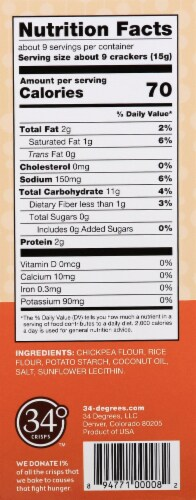 34 Degrees Original Gluten Free Crisps Perspective: right