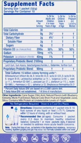Golive Citrus Probiotic & Prebiotic Drink Mix Perspective: right