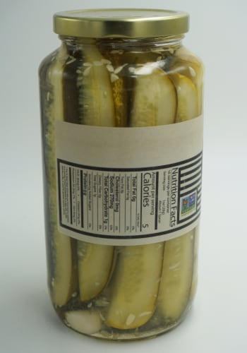 McClure's Garlic & Dill Pickles Spears Perspective: right
