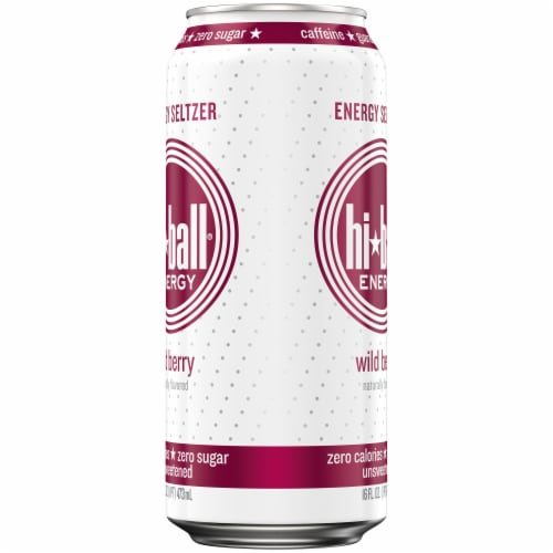 HiBall Wild Berry Sparkling Energy Water Drink Perspective: right