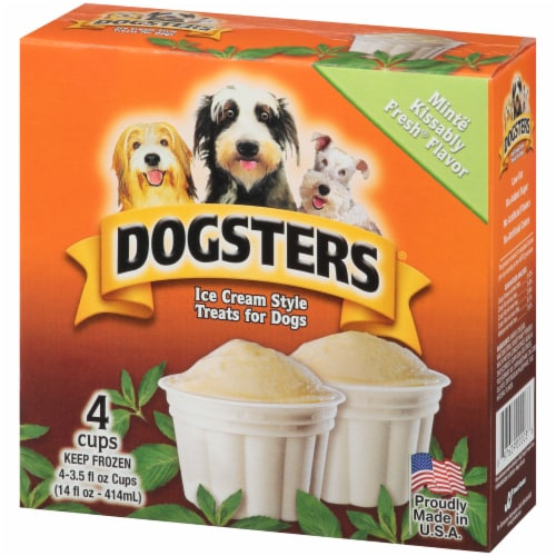Dogsters Mint Flavored Ice Cream Style Treats for Dogs Perspective: right