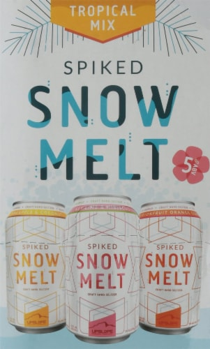 Upslope Brewing Co. Spiked Snowmelt Tropical Mix Craft Hard Seltzer Variety Pack Perspective: right