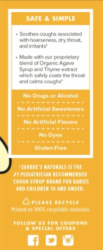 Zarbee's Naturals Grape Baby Cough Syrup Perspective: right