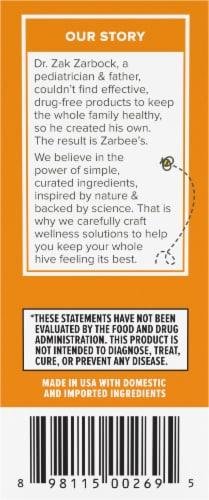 Zarbee's® Baby Natural Orange Flavor Immune Support & Vitamins Supplement Perspective: right