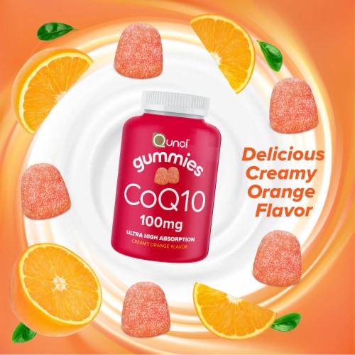 Qunol® CoQ10 Creamy Orange Flavored Gummies 100mg Perspective: right