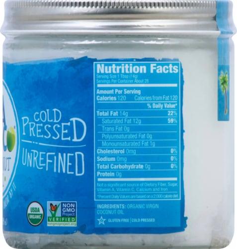 Vita Coco 100% Organic Virgin Cold Pressed Unrefined Coconut Oil Perspective: right