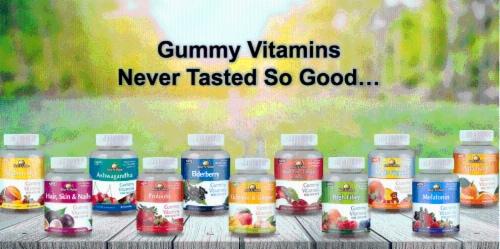 Rise-N-Shine Melatonin Gummy Vitamins Perspective: right