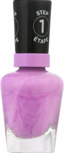 Sally Hansen Miracle Gel Neon 054 Violet Voltage Nail Color Perspective: right