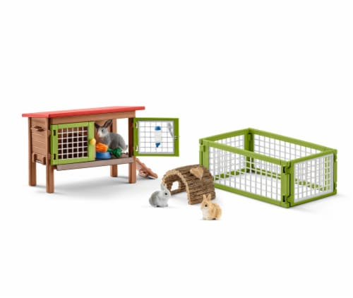 Schleich Rabbit Hutch Action Figures Perspective: right