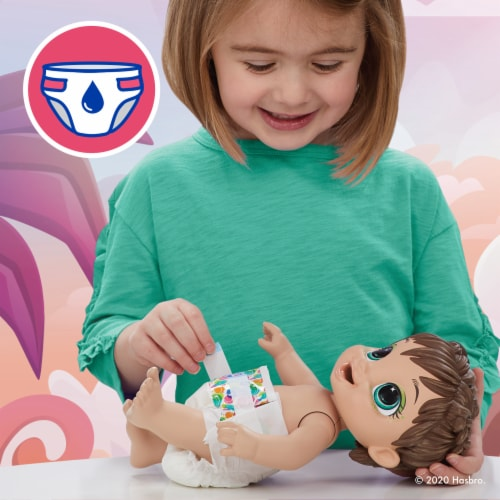 Hasbro Baby Alive Dino Cuties Doll -Brown Hair Perspective: right