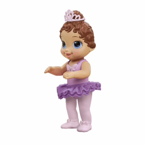 Hasbro Baby Alive Sweet Ballerina Brown Hair Baby Doll - Purple Perspective: right