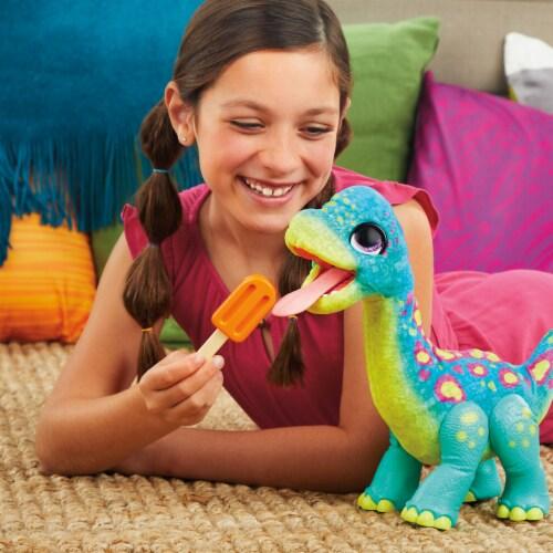 Hasbro furReal Snackin' Sam the Bronto Interactive Animatronic Dinosaur Plush Toy Perspective: right