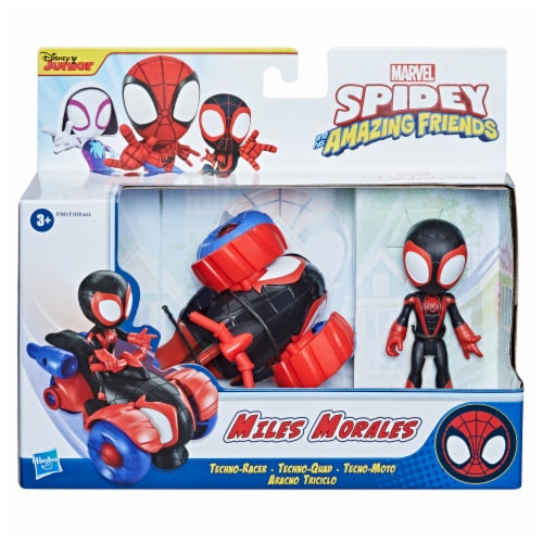 Hasbro Marvel Spidey and His Amazing Friends Miles Morales Techno-Racer Perspective: right