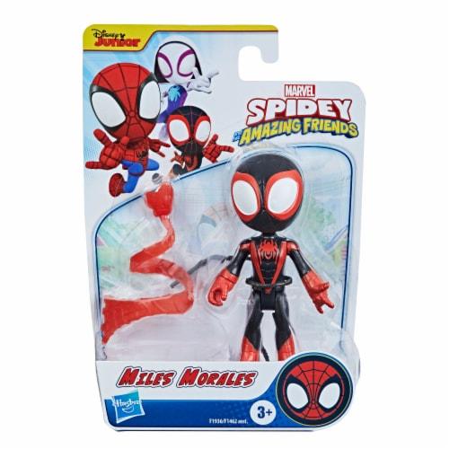 Hasbro Disney Junior Marvel Spidey and His Amazing Friends Miles Morales Hero Figure Perspective: right