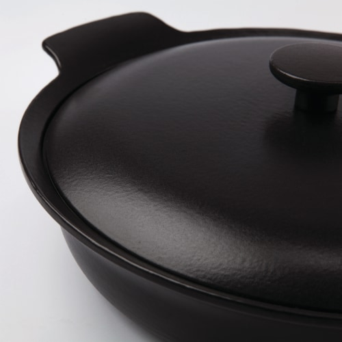 BergHOFF Ron Cast Iron Covered Deep Skillet - Black Perspective: right