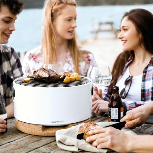 BergHOFF Tabletop BBQ Grill - White Perspective: right